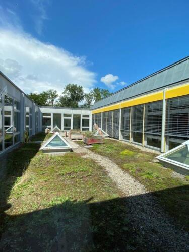 Schulhausgarten / Dach